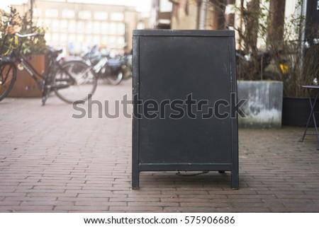 Chalkboard menu sign mockup #575906686
