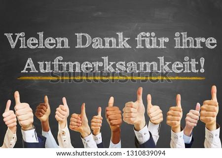Chalkboard saying in German \