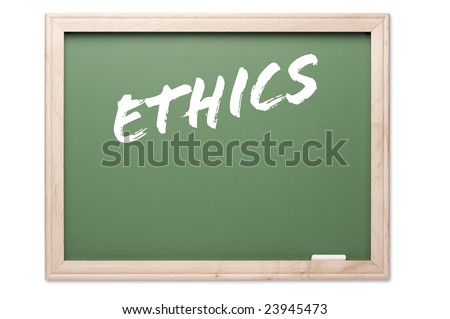 Chalkboard Series Isolated on a White Background - Ethics.