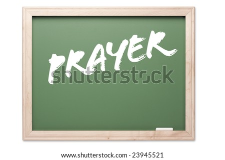 Chalkboard Series Isolated on a White Background - Prayer.