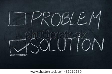 chalkboard vote problem or solution