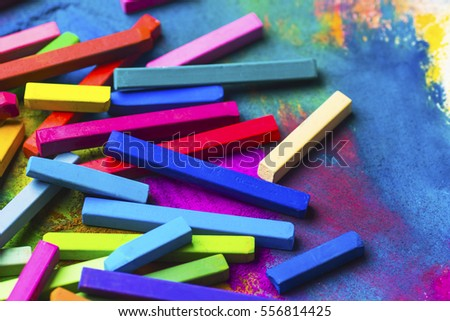 Chalks pastel and pastel background. #556814425