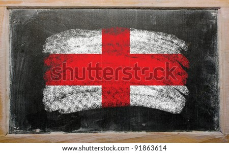 England - national flag and outline map