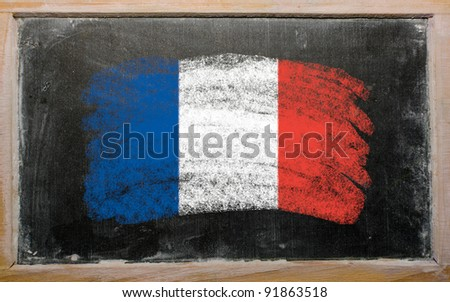France - national flag and outline maps
