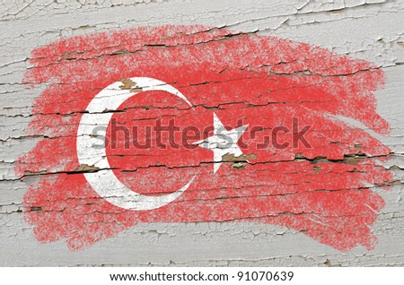 Turkey - national flag and outline maps