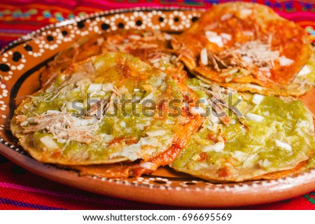 chalupas mexican food in mexico city #696695569