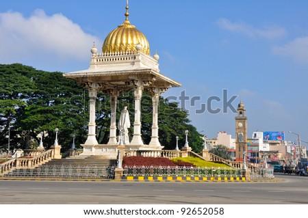 Chamarajendra Wodeyar roundabout at Mysore, India