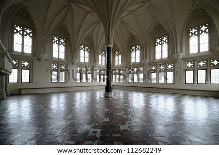 Chamber in greatest Gothic castle in Europe - Malbork. Teutonic castle. World Heritage List UNESCO.