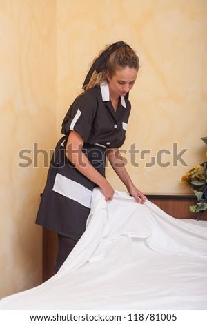 Chamber Maid at Work