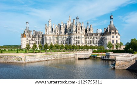 Chambord castle (chateau Chambord) in Loire valley, France #1129755311