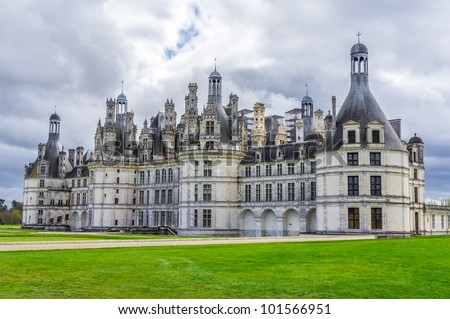Chambord castle, Loire Valley, France The royal castle Chambord is one of the most recognizable castle in the world..