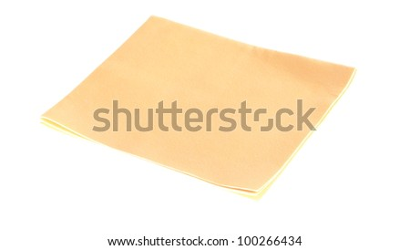 chamois isolated on a white background