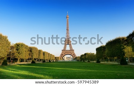 Champ de Mars with the view on Eiffel Tower in Paris, France. Stock photo ©