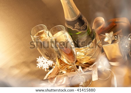 Champagne and gift #41415880