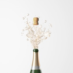 Champagne background concept
