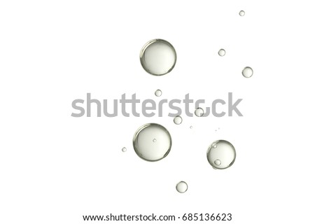 Champagne bubbles isolated over a blurred background #685136623