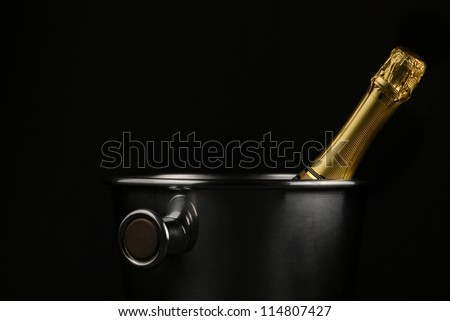 Champagne bucket - stock photo