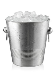 Champagne bucket, full with ice