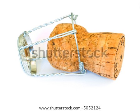 Champagne cork isolated on a white background