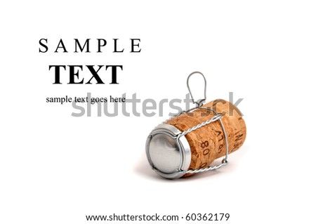 Champagne cork isolated on white