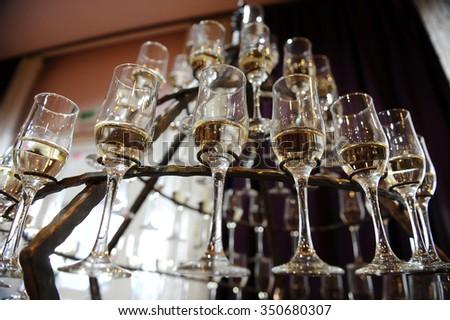 Champagne Flutes Prepared For A Wedding Reception Ez Canvas