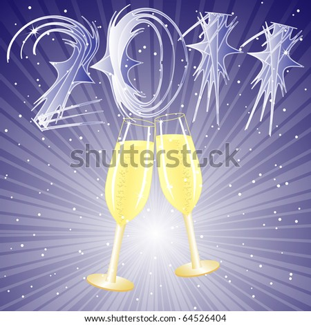 Champagne for New year 2011