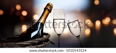 Champagne for romantic celebrations and enjoy for special moments #1010543524