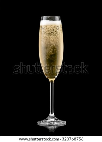 Champagne glass #320768756