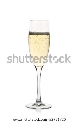 Champagne glass full