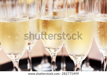 champagne glasses #282775499