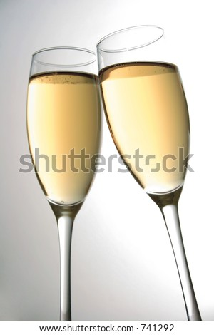 Champagne glasses clinking