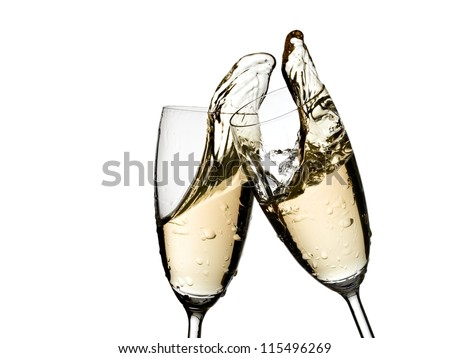 Champagne glasses up