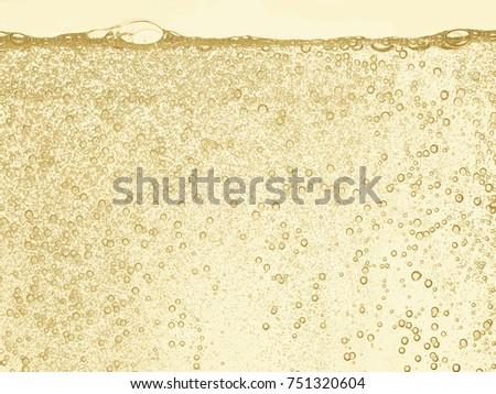Champagne gold bubbles