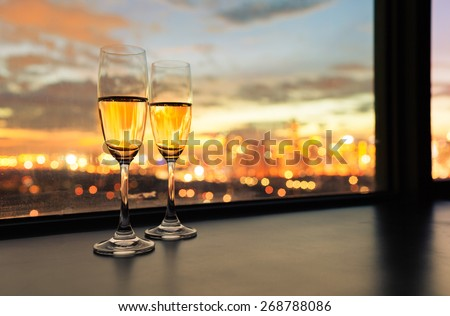 Champagne in the city.