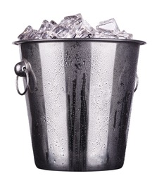 champagne Metal ice bucket  isolated on a white background