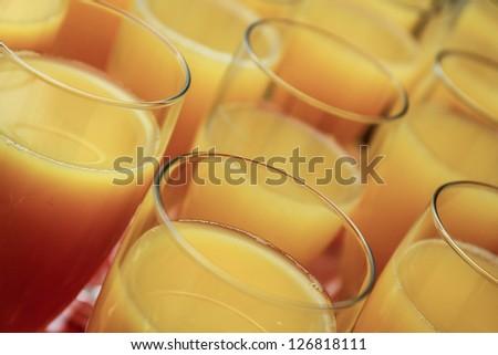champagne, mixxed with orange juice, Reception