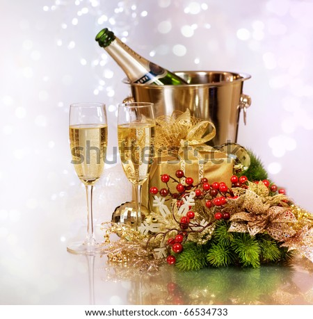 Champagne.New Year Celebration.