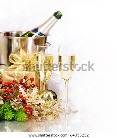 Champagne.New Year's Eve.Celebration