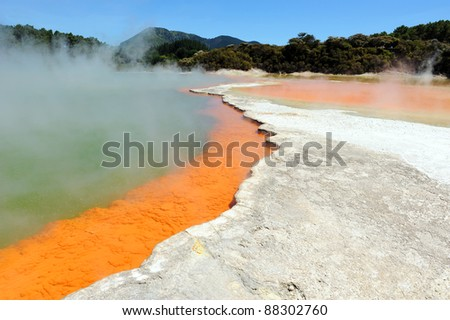 Champagne Pool in Wai-o-Tapu Thermal Wonderland, Rotorua, New Zealand