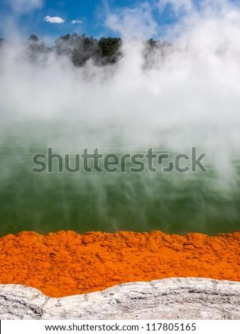 Champagne Pool, Wai-o-tapu, Rotorua, North Island, New Zealand - stock photo