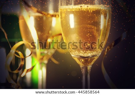 Champagne ready to bring in the New Year #445858564