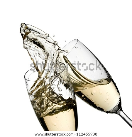 Champagne splash