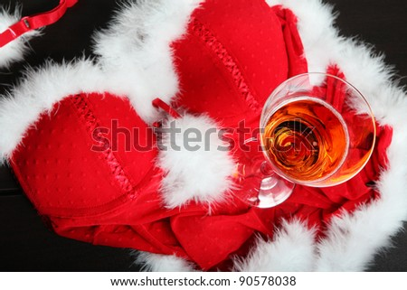 Champagne with decoration