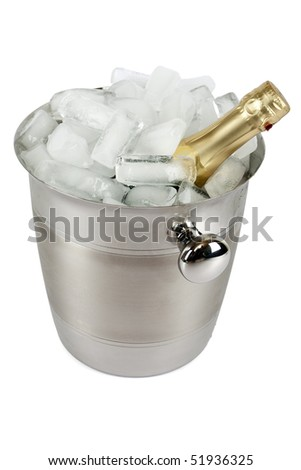 Champagne with ice cooler
