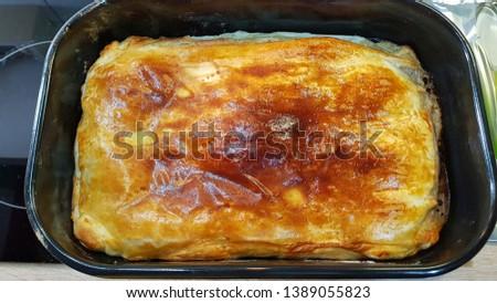 champignon mushroom pie food art