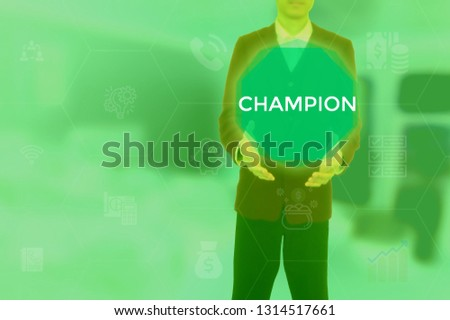 CHAMPION - technology and business concept #1314517661