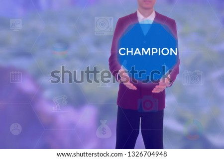 CHAMPION - technology and business concept #1326704948