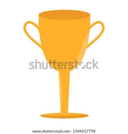 Championship winner symbol. Winner cup icon. Trophy button. flat illustration isolated on white background