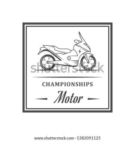 Championships logo. Retro banner for t-shirts, sports and websites.