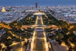 Champs de Mars, Paris at nighttime